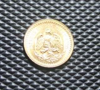 1945 DOS Y MEDIO PESOS MEXICAN GOLD COIN BU CONDITION BEAUTIFUL LUSTER
