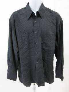 Mens Gray Button Down Shirt Sz L