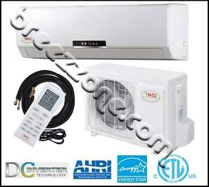 DUCTLESS MINI SPLIT HEAT PUMP 18 SEER 24000 BTU 2 TON, 25FT INST.KIT