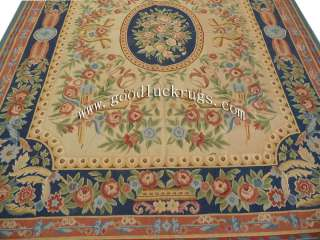 x10 Hand woven Wool French Aubusson Flat Weave Rug~Brand New~Free