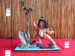 Vintage SAMURAI Japanese KINTARO Doll Carp KOI Fish