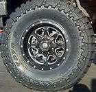 17x9 Fuel Boost Black & Machined / 37/13.50R17 Toyo MT