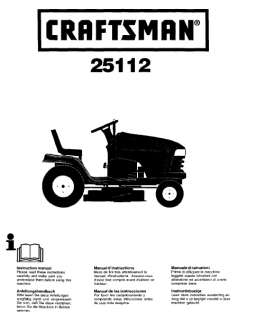 51  Craftsman Riding Mower & Lawn Tractor Manuals