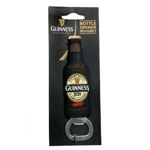 Guinness Fridge Magnet Bottle Opener   Bottle Shaped