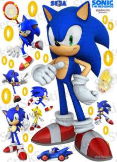 Sonic the Hedgehog Super Sonic 2 RePositionable wall Sticker Super