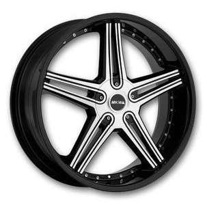 MKW Wheels M104 20 Black Machine High Offset Wheels Only