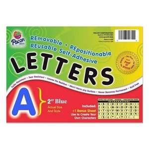 Pacon Colored Self Adhesive Removable Letters Electronics