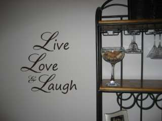 Live Love & Laugh vinyl wall words quotes stickers