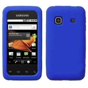 SAMSUNG BOOST MOBILE GALAXY PREVAIL BLUE SOLID SILICONE RUBBER TOUCH