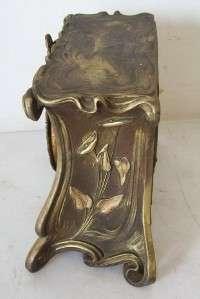 Antique Ansonia Mantel /Shelf Clock Windup Chime Pendulum Vintage