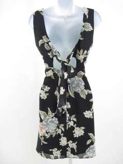 DONNA RICO Black Floral Sleeveless Dress Size 6