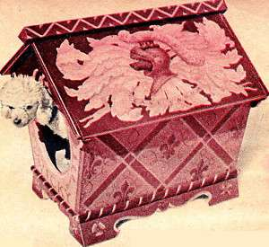 Woodworking Plan Pattern Build Fancy Dog House Pet Cat