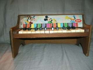 Vintage Jaymar Walt Disney Productions Piano Toy 15 Key