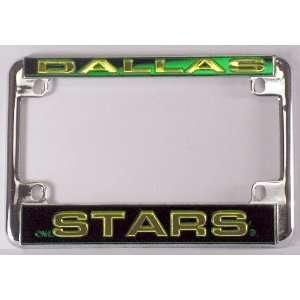 Dallas Stars NHL Chrome Motorcycle RV License Plate Frame