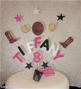 COWBOY BIRTHDAY CAKE TOPPER ANY NAME/AGE BOY OR GIRL