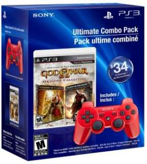 PS3 Dual Shock 3 Deep Red Bundle with God of War