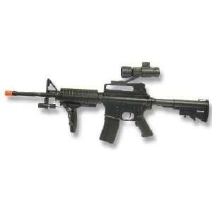 AEG Electric M16 Assault Rifle FPS 150, Scope, Laser
