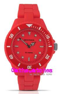 Red Plastic Bracelet watch 4409 Water resistant 50m Ice Red