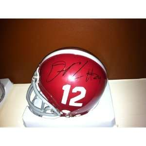 DeQuan Menzie Autographed Alabama Crimson Tide Mini Helmet