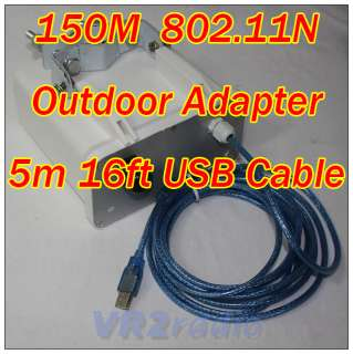 Newly WiFi Outdoor 44dBm 150M Adapter Antenna 5M cable