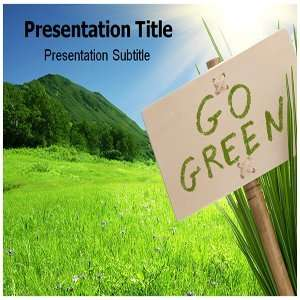 Go Green Powerpoint Templates   Background for Go Green