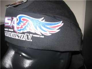 HARLEY DAVIDSON USA SKULL CAP DO RAG NWT