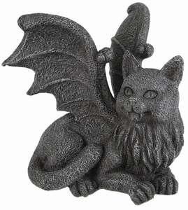 Winged Cat Gargoyle Statue Figurine Gothic Kitty PC Monitor Topper