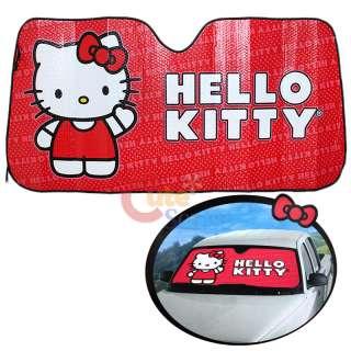 Sanrio Hello Kitty Windshield Sun Shade Auto Accessories Core 1