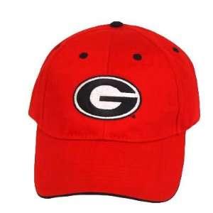 NCAA LICENSED GEORGIA BULLDOGS RED COTTON CAP HAT NEW