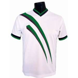 Epic AGGRESSOR Custom Soccer Jerseys   8 Colors  SALE WHITE/FOREST YXS