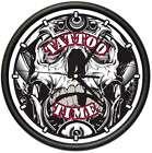 TATTOO TIME Wall Clock ink shop tattoos gun artist