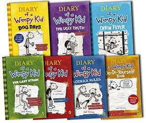 of a Wimpy Kid Collection 7 Books Set Jeff Kinney, Ugly Truth, Movie