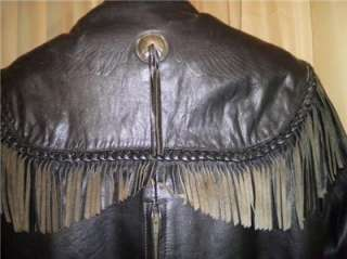 Harley Davidson Leather Jacket Vintage Original Willie G Fringe w