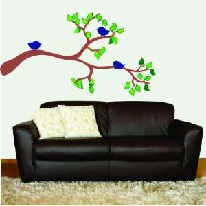 Removable Wall Decals  Tree Branch with Birds
