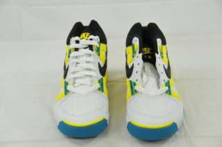 AIR TECH CHALLENGE (GS) WHITE BLACK YELLOW TEAL 315928 101 (#5905) 4Y