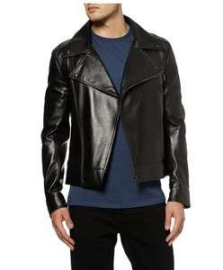YSL YVES SAINT LAURENT Mens Black Nappa Leather Biker Jacket 46 $5950