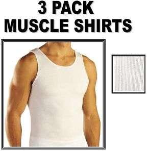 MENS White Tank Top Wife Beater Undershirt A Shirt L