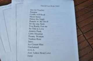 DAVID LEE ROTH Slawter Scouts T Shirt + DLR 2002 Tour Prep Pack