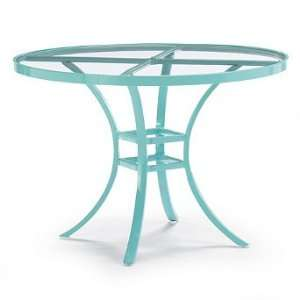 Venetian Glass top Outdoor Dining Table   Frontgate, Patio