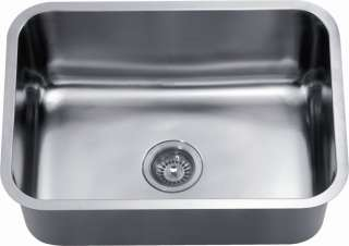 18G Stainless Steel Rounded Undermount Single Bowl Kitchen Sink
