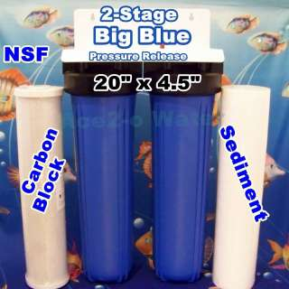 20 Big Blue Sediment Carbon Whole House Water Filter