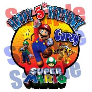 Super Mario Custom Personalized Birthday T Shirt