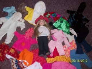 HUGE LOT MAGIC ATTIC DOLL AND 29 PCS 18 CLOTHES AMERICAN GIRL BITTY