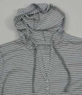 Calvin Klein Hooded Top Hoodie New XL Gray Striped Whi