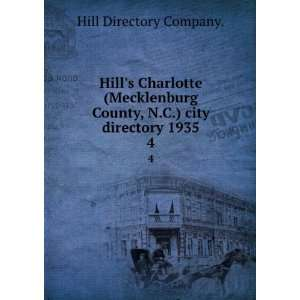 Hills Burlington (Alamance County, N.C.) city directory