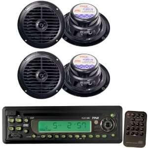 Pyle Marine Radio Receiver and Speaker Package   PLCD13MR AM/FM MPX In