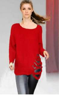 Sexy Long Sleeves Fashion Sweater Blouse Top S M L 869
