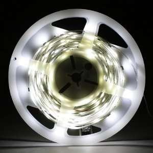 White 5M 150 LED 5050 SMD Flexible Car DIY Strip Light Automotive