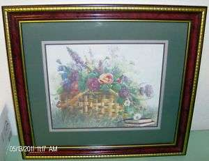 Homco Home Interiors Picture Basket Flowers Gods Grace
