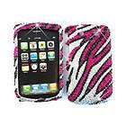 For BlackBerry Torch 9800 Slider Phone Case Pink Zebra Skin Hard